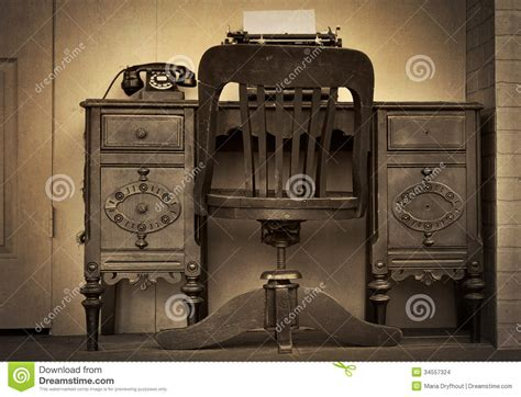 old fashioned desk vintage office stock images image 34557324
