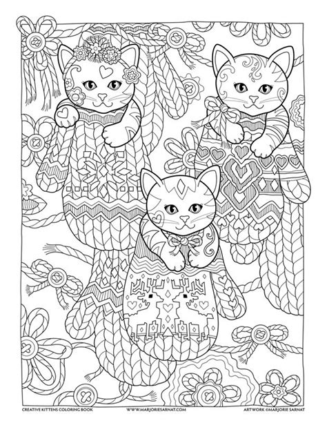 creative coloring books mittens creative kittens coloring book by marjorie