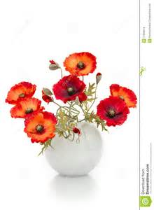 Summer Flowers Arrangements - bouquet of artificial poppies in a vase stock images