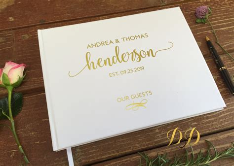 Wedding Guest Book by Wedding Guest Book Wedding Guest Book White Blush Real
