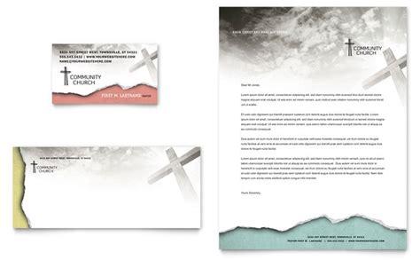 Bible Church Business Card Letterhead Template Design Church Stationery Templates