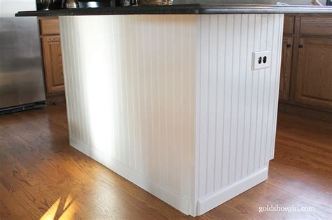 wainscoting kitchen island gold shoe kitchen island before after