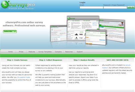 Website Survey Tools - esurveyspro com survey software review web based survey software