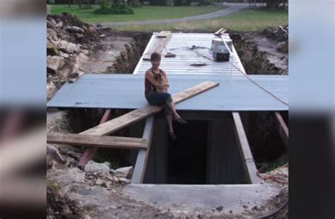 backyard bunker when this man dug up his backyard nobody expected this