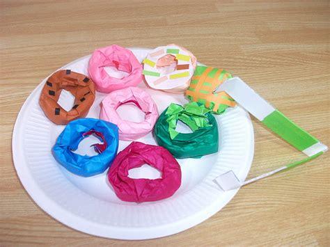 origami doughnuts donuts craft preschool education for