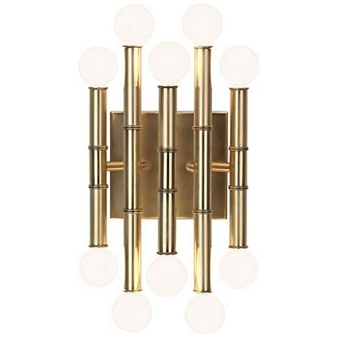 Jonathan Adler Meurice Sconce jonathan adler meurice 12 quot high antique brass wall sconce x3483 ls plus