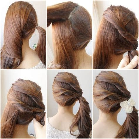 Easy Twist Hairstyles by Easy Twist Side Ponytail Hairstyle Fmag