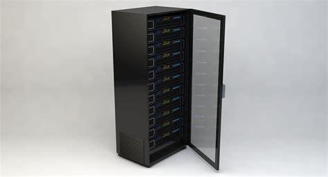 Rack Server server rack royalty free 3d model