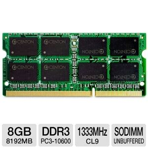 Memory Notebook Ddr3 8gb Centon R1333so8192 Laptop Memory Module 8gb Pc3 10600