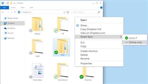 dropbox smart sync dropbox local storage best storage design 2017