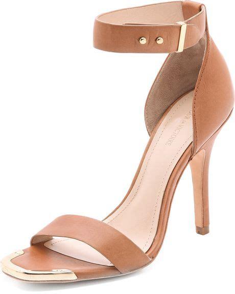 cognac high heel sandals pour la victoire yaya high heel sandals in brown cognac