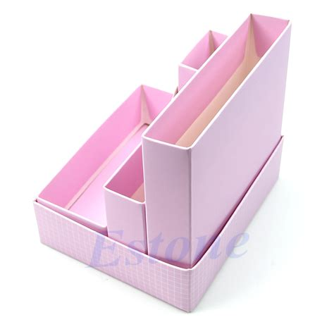 Desk Box Organizer Diy Makeup Cosmetic Stationery Paper Board Storage Box Desk Decor Organizer Ebay