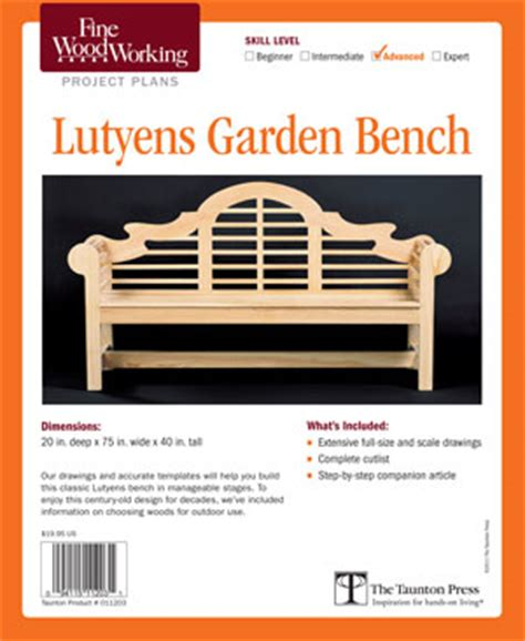 lutyens bench plans free furnitureplans