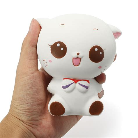 squishy cat squishy white cat kitten 11cm soft rising