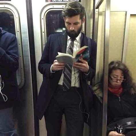 i found a suit books dudes reading books on trains is the