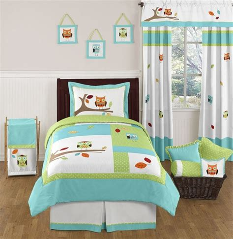 Turquoise And Lime Hooty Owl Childrens And Kids Bedding Hooty Owl Crib Bedding
