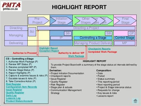 prince2 highlight report template project highlight report excel template project status