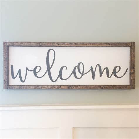 Wooden Handmade Signs - welcome sign painted wood sign wood sign by