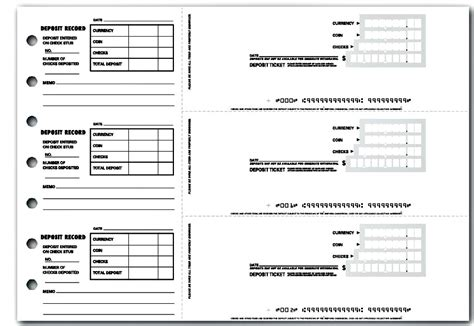 4 Printable Bank Deposit Slip Template Excel Template124 Us Bank Deposit Slip Template