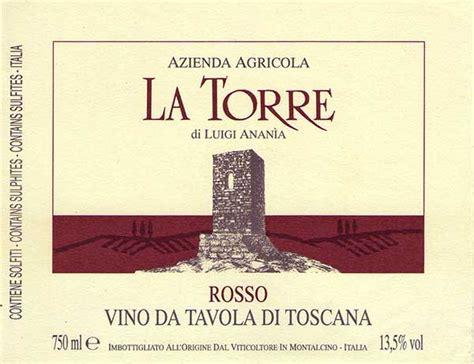 vini da tavola azienda agricola la torre montalcino rosso toscano