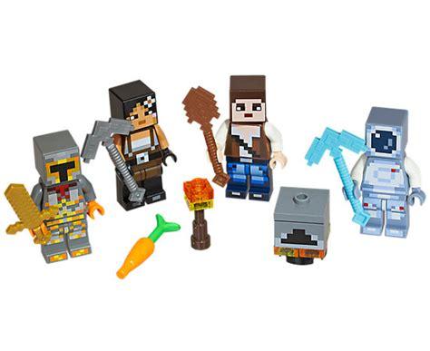 spielzeugsack lego lego 174 minecraft skin pack 2 853610 minecraft lego shop