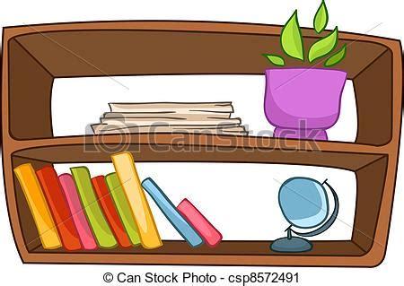 estante para libros traduccion vector clip art of cartoon home furniture book shelf
