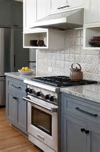 White And Grey Kitchen Cabinets gray and white kitchen cabinet ideas kitchen with gray lower cabinets