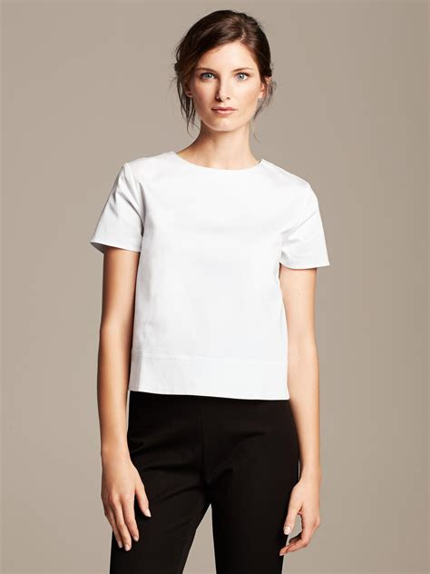 Roland Mourets New Gap Collection Revealed by Banana Republic Roland Mouret Collection Poplin White
