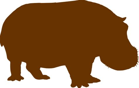 Hippo Brown brown hippo clip at clker vector clip