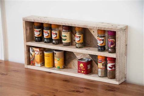 diy spice rack from wood pallet pallet kitchen spice rack pallet furniture diy