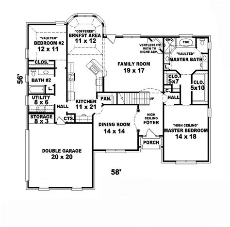 english cottage floor plans cadell english cottage home plan 087d 0851 house plans