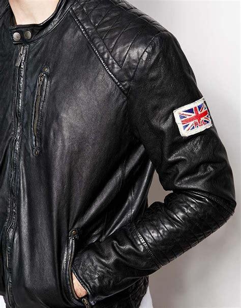 Kaos Ben Sherman Londonsmlxl 1 pepe pepe leather jacket new lennon slim fit biker in black for lyst