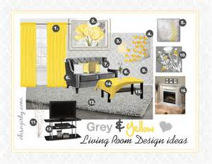 Yellow And Grey Home Decor Yellow And Grey Living Room Interior Design Idea