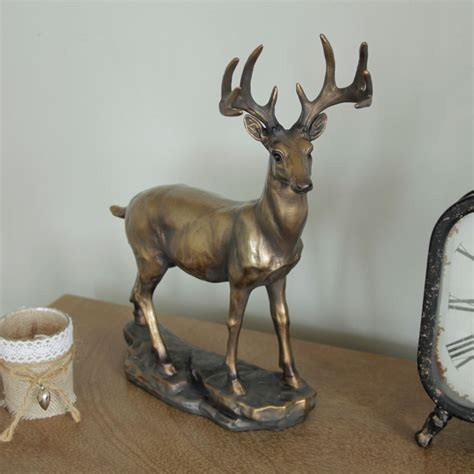 bronze effect deer ornament melody maison 174