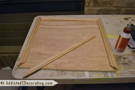 How To Build Kitchen Cabinet Doors Bathroom Makeover Day 3 How To Make Cabinet Doors Without Using Special Tools