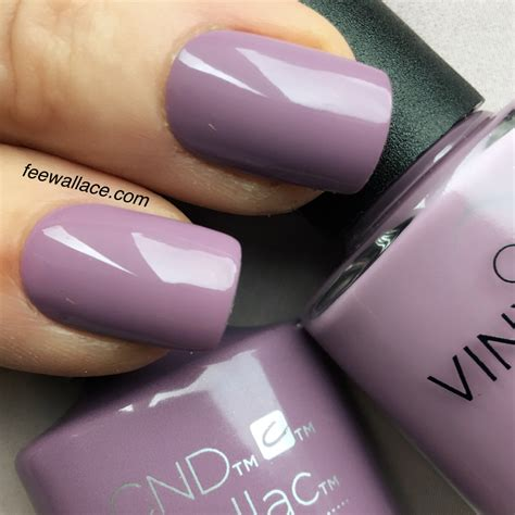 Eclipse Nail shellac and vinylux lilac eclipse from cnd nightspell nail