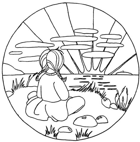 Sunset Coloring Pages sunset coloring pages