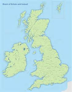 britain and ireland river map royalty free editable map