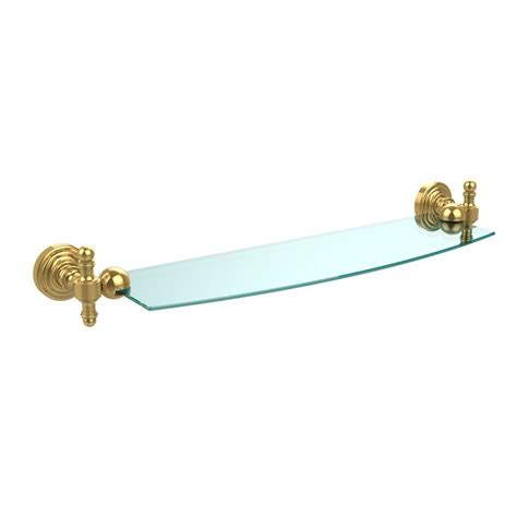 Rw Plumbing And Heating by Allied Brass Retro Wave 18 In Glass Shelf In Polished