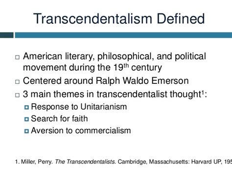 themes of transcendentalism literature rhinehart emerson power point presentation