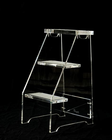 Clear Acrylic Step Stool by The Quot Social Climber Quot Lucite Step Stool Dragonette Ltd