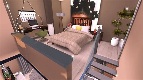 Bed In Living Room tiny modern loft the sims 4 speed build youtube
