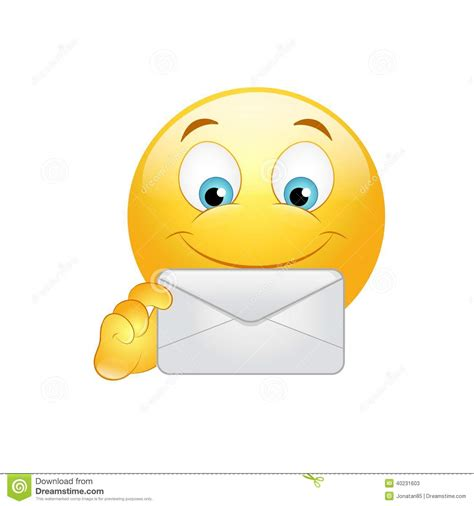 smiley face in envelope royalty free stock photo image emoticon with envelope stock vector image 40231603