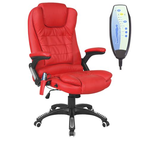 desk recliner chair rio leather reclining office chair w 6 point massage high
