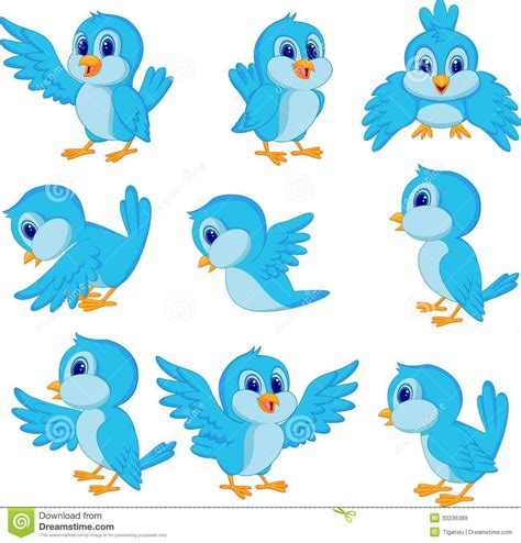 cartoon cockatiel cute blue bird cartoon vector illustration cartoondealer