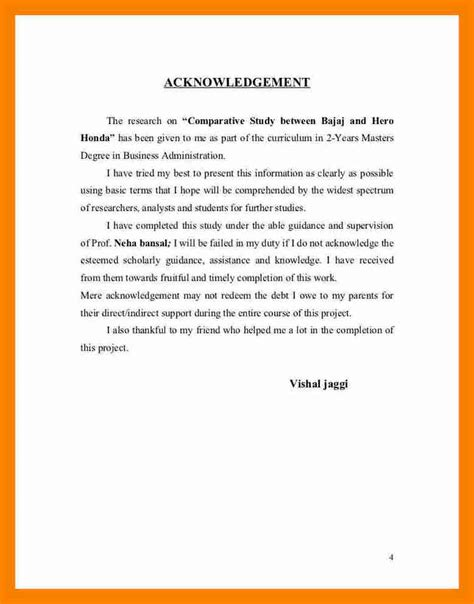Acknowledgement Letter About Research Paper Acknowledgement Report Sle Internship Report On