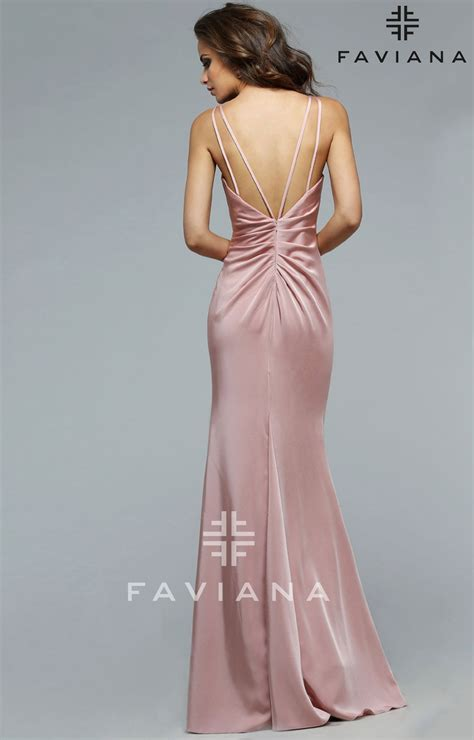 faviana  dusty rose dress prom dress
