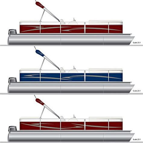 pontoon boat stripe decals pontoons pontoon boats and decals on pinterest