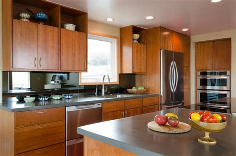 Mid Century Modern Kitchen Cabinets Alki Kitchen Remodel Midcentury Kitchen Seattle By Kirk Design