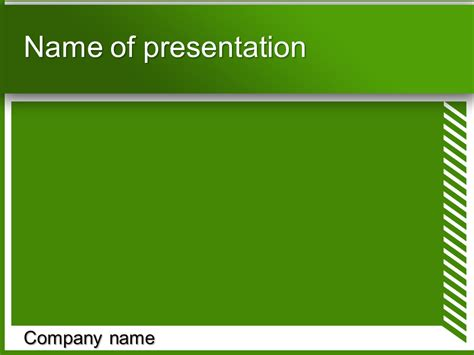 powerpoint themes green free download green with stripes powerpoint template for impressive